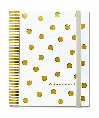 Gold Dots Large Address Book Free Shipping