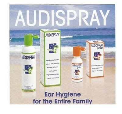 Audispray Ear Cleaning Solution - Adult Size Prevent Remove Ear Waxe Hygiene New
