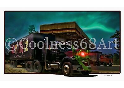A4 size Maximum Overdrive 3D Style Original Art Print