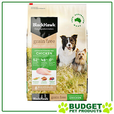 Black Hawk Holistic K9 Dry Grain Free Chicken For Adult Dogs 15kg