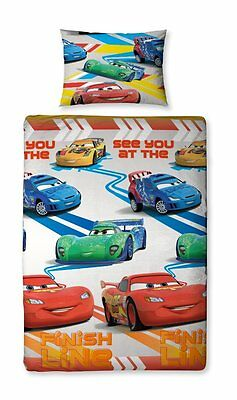 Disney Pixar Cars 2 Kinder-Bettwäsche 135x200 Lightning McQueen NEU OVP
