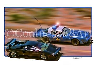 A4 size The Cannonball Run 3D Style Original Art Print
