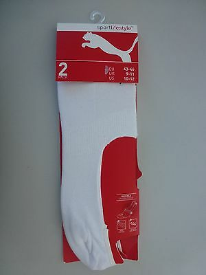 Puma 2er Pack Footies Füßlinge Socken unisex white Gr. 43-46
