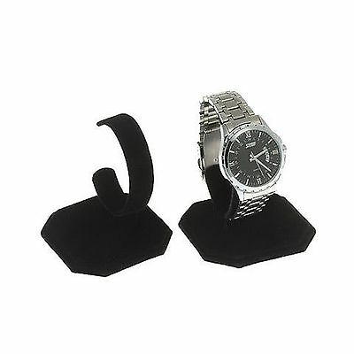 6 Black Velvet Watch Jewelry Bracelet Display Stands Free Shipping