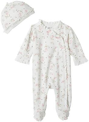 Little Me Baby Girls' Footie and Hat Ivory Print Preemie Free Shipping