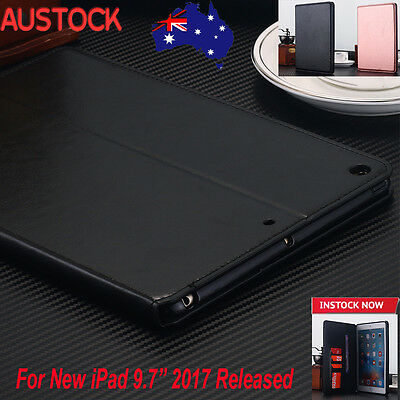 "For New iPad 9.7"" inch 2017 Case Leather Folio Cover with Stand Smart Sleep/Wake"