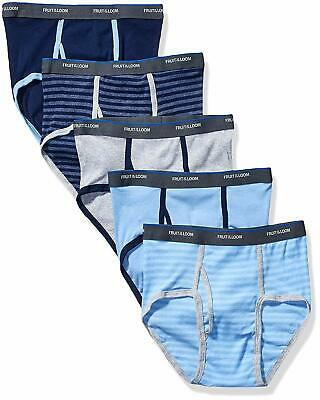 Fruit of the Loom Boys' Fashion Brief (Pack of 5) Stripes and S... Free Shipping