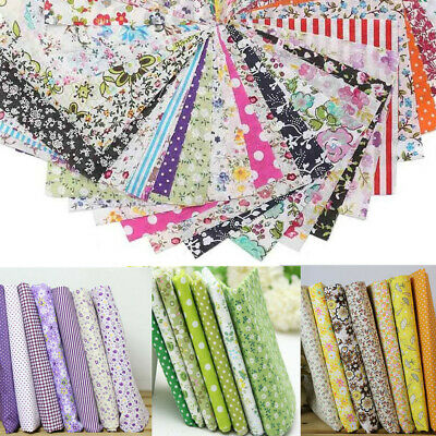 7/10Pcs Assorted Pre-Cut Bundle Charm Floral Cotton Quilt Fabric Offcuts 25x25cm