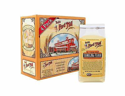 Bob's Red Mill Semolina Pasta Flour 24 Ounce (Pack of 4) Free Shipping