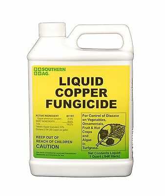 Southern Ag Liquid Copper Fungicide 32oz - 1 Quart 32 Oz Free Shipping