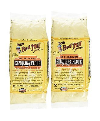 Bob's Red Mill Semolina Pasta Flour - 24 oz - 2 Pack Free Shipping
