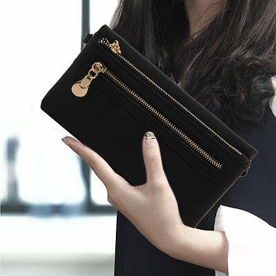 Zipper Long Portable Frosted Design Women Wallet Leather Purse Card Holder OK@