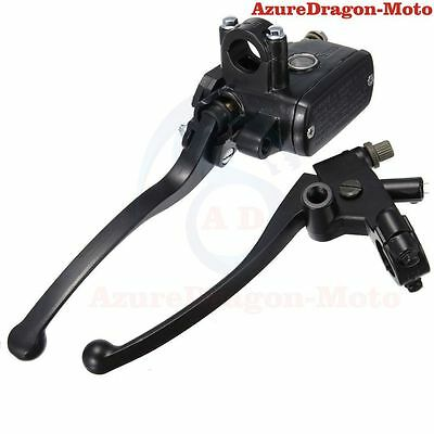 "Motorcycle Dirt Bike 7/8"" Hydraulic Brake Master Cylinder Clutch Lever Black"