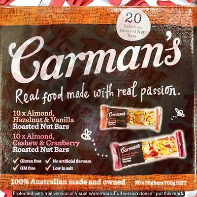 1x Carman's Muesli Bars Choc/Cranberry & Yoghurt/Apricot Mixed Packed 24 X 35 G