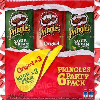 1x Pringles Party Pack - 6 X 134 G