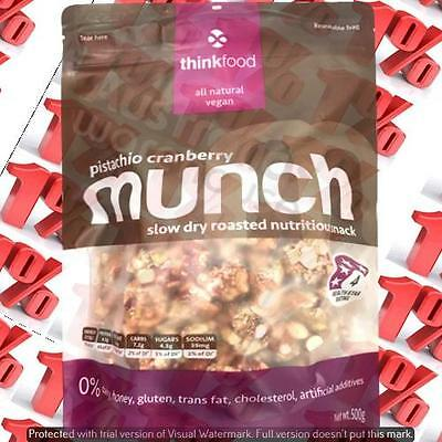 1x Thinkfood Munch Pistachio/ Cranberry - 500 G
