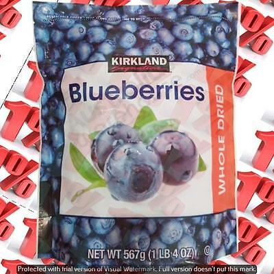 1x Kirkland Signature Dried Blueberries - 567 G