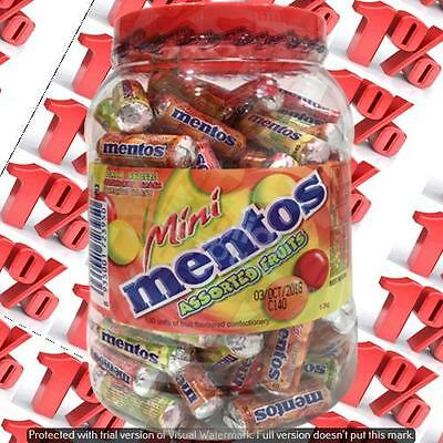 1x Mentos Mini Assorted Fruits Jar - 1.3 KG