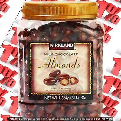 1x Kirkland Signature Milk Chocolate Almonds - 1.36 KG