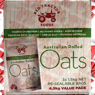 1x Red Tractor 100% Aus Rolled Oats - 4.5 KG