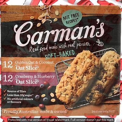 1x Carman's Oat & Berry Slices - 24 X 35 G