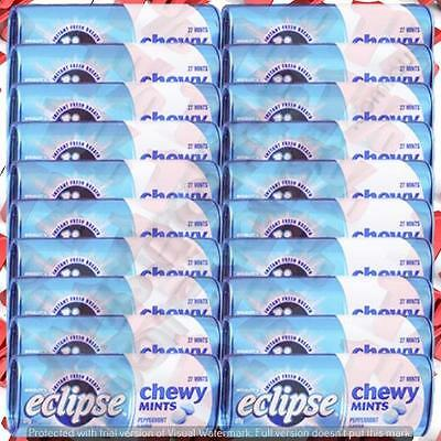 1x Wrigley's Eclipse Chewy Peppermint Pack - 20 X 27 G
