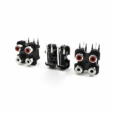 3 Pcs 4 RCA PCB Mount Female Outlet Jack Connector RCA Socket B... Free Shipping