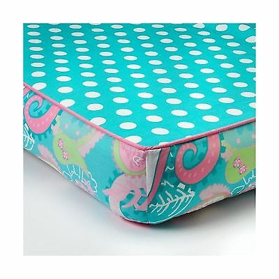 My Baby Sam Pixie Baby Bumper Less Crib Sheet Aqua and Pink Aqu... Free Shipping