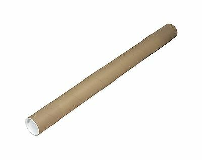 "EcoBox 2"" x 24"" Kraft Mailing Tubes with End Caps Free Shipping"