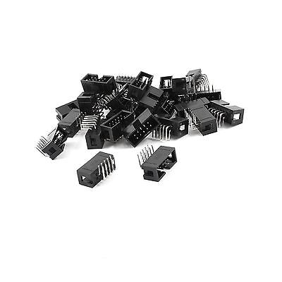 25Pcs 2x5 Pins 2.54mm Pitch Right Angle Connector Pin IDC Box H... Free Shipping