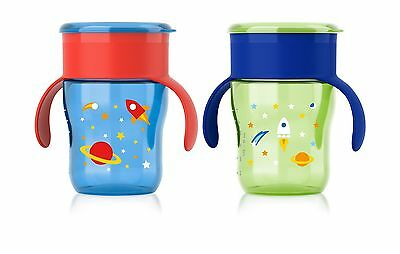 Philips Avent My Natural Drinking Cup 9 Ounce Green/Blue/Red 2 ... Free Shipping