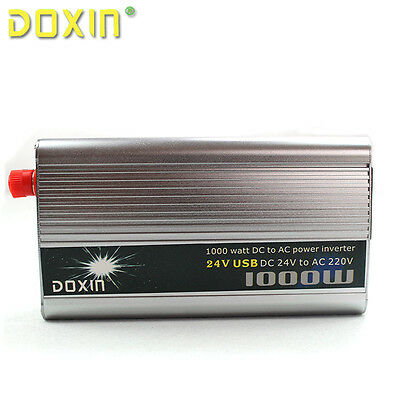 Car 1000W Converter Power Inverter DC 24V to AC  220V Invertor USB Port