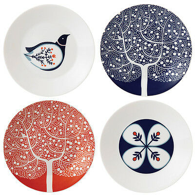 NEW Royal Doulton Fable Accent Small Plate Set 16cm/4pce