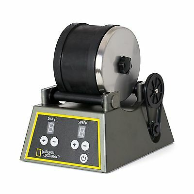 Professional Rock Tumbler by NATIONAL GEOGRAPHIC (Improved Qual... Free Shipping
