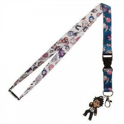 Crunchy Roll Re: Zero All Over Print Lanyard Charm ID Holder Licensed NEW