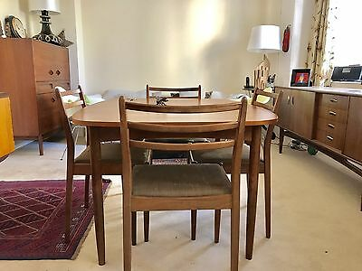 A Mid Century G Plan Teak table And 4 Chairs