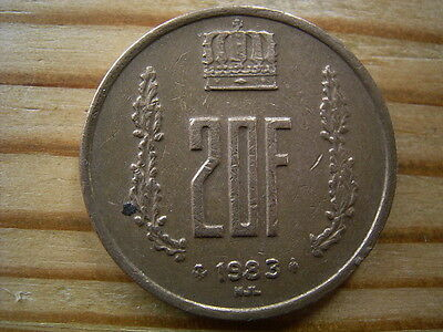 1983  Luxembourg 20  Franc Coin Collectable