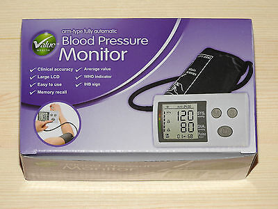 Value Health Automatic Arm Blood Pressure Monitor Clear Display BNIB Bargain!!