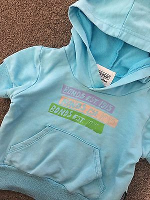 Size 00 ~ BONDS ~ Pale Blue Short Sleeved Hooded Pullover ~ RARE ~ EUC!