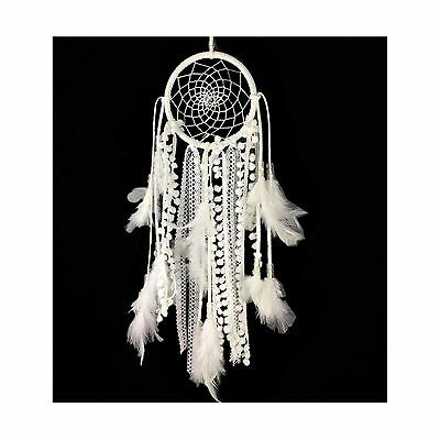 Dremisland Dream catcher Handmade Traditional White Feather Wal... Free Shipping