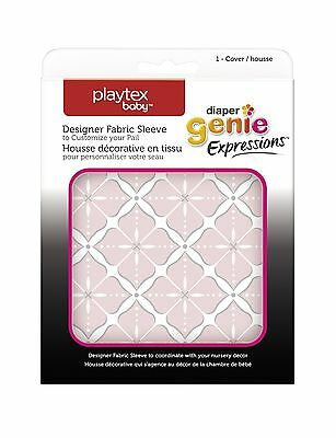 Playtex Diaper Genie Expressions Diaper Pail Fabric Sleeve Pink... Free Shipping