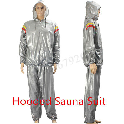 Sauna Sweat Suit Heavy Duty Weight Loss Anti Rip Adult Fitness Exercise Gym UK
