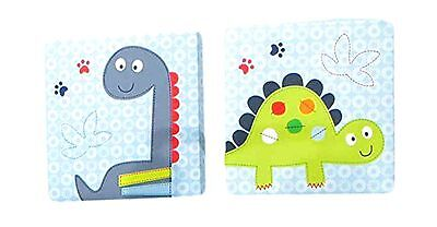 Bananafish Little Dino Wall Art Blue 2 Count Free Shipping