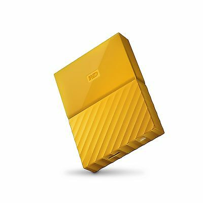 WD 2TB Yellow  USB 3.0 My Passport  Portable External Hard Driv... Free Shipping