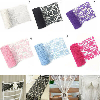 """6"""" *10Yard Lace Table Runner Roll Vintage Wedding Party Banquet Chair Sash Decor"""