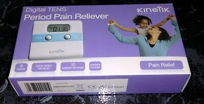 Kinetik PPT1 Digital TENS Period Pain Reliever + 2 Boxes Spare Pads Brand New