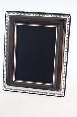 Vintage England London Sterling Silver Square Photo Frame With Stand Hallmarked