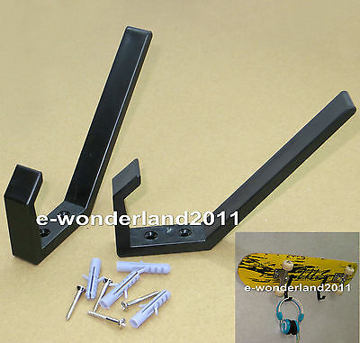 1Pairs Plastic Wall Mount Rack Black/Snowboard/Skateboard/Ski Wall Mount Rack