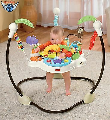 Fisher-Price Luv U Zoo Jumperoo Baby Bouncer Fun Rotating Infant Jumper Seat 360