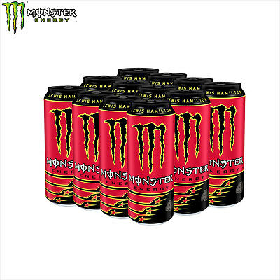 New Lewis Hamilton LH44 Monster Energy Drink Refreshing Stimulating 12x500ml